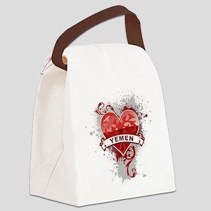 Heart Yemen Canvas Lunch Bag