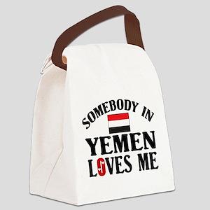 Somebody In Yemen Canvas Lunch Bag