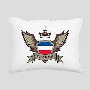 Yugoslavia Emblem Rectangular Canvas Pillow