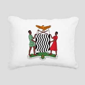 Zambia Coat Of Arms Rectangular Canvas Pillow
