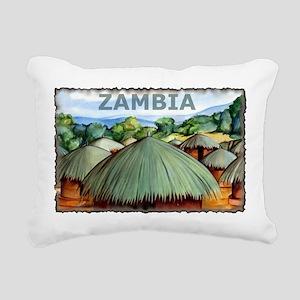 Vintage Zambia Art Rectangular Canvas Pillow