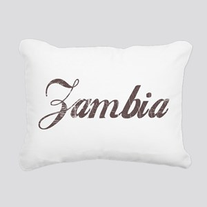 Vintage Zambia Rectangular Canvas Pillow