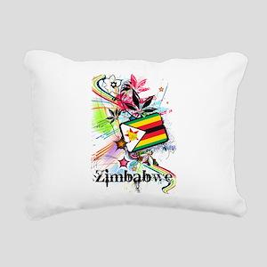 Flower Zimbabwe Rectangular Canvas Pillow