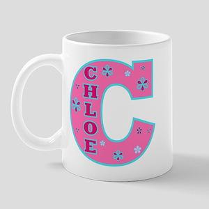 CHLOE Letterman Design Pink Mug