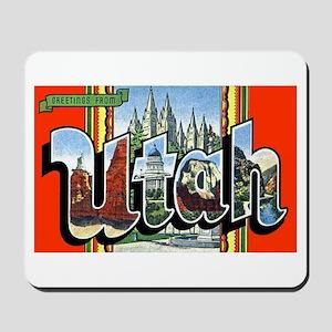 Utah Greetings Mousepad