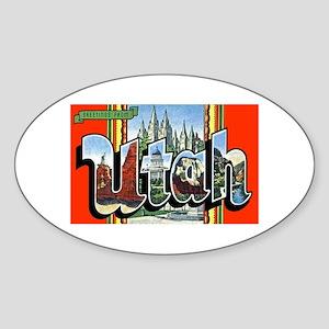 Utah Greetings Oval Sticker