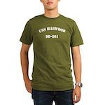 USS HARWOOD Organic Men's T-Shirt (dark)