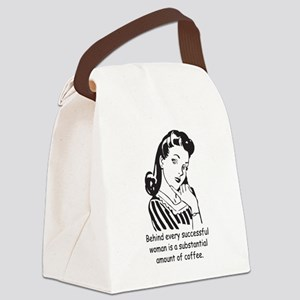 Vintage Housewife Canvas Lunch Bag