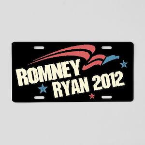 Romney Ryan Americana Aluminum License Plate