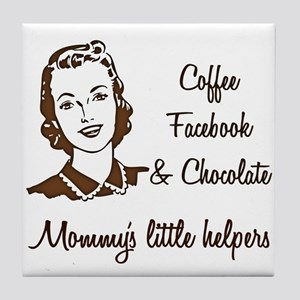 Mommys little Helpers Tile Coaster