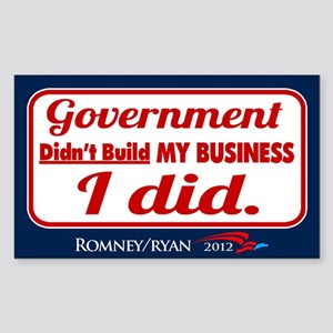 Government Didn't Build My Business Sticker (Recta