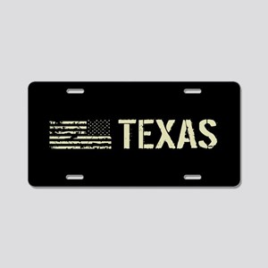 Black Flag: Texas Aluminum License Plate