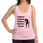 i-think-my-personal-trainer Racerback Tank Top