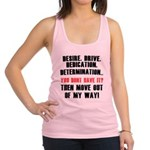 get-out-my-way Racerback Tank Top