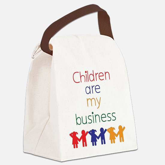 Children are my business Canvas Lunch Bag