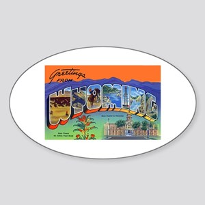 Wyoming Greetings Oval Sticker