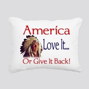 americabig Rectangular Canvas Pillow