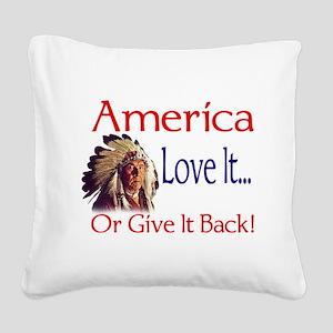 americabig Square Canvas Pillow