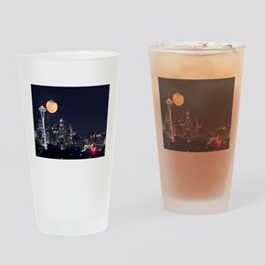 Seattle Space Needle Full Moon Drinking Glass