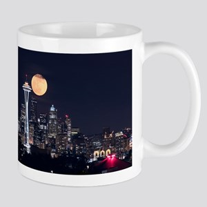 Seattle Space Needle Full Moon Mug