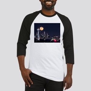 Seattle Space Needle Full Moon Baseball Jersey