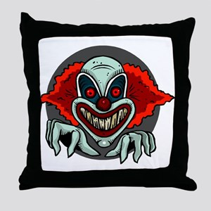 Evil Clown Throw Pillow