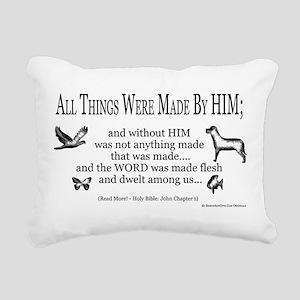 Christian Scripture Rectangular Canvas Pillow