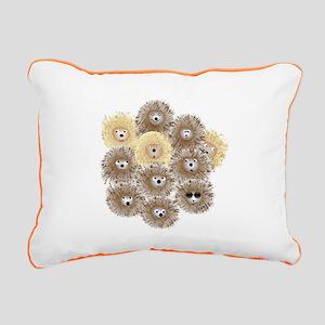 Hedgehog Party Rectangular Canvas Pillow