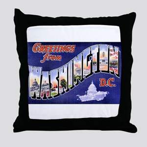 Washington, D.C. Greetings Throw Pillow