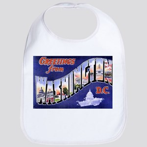 Washington, D.C. Greetings Bib