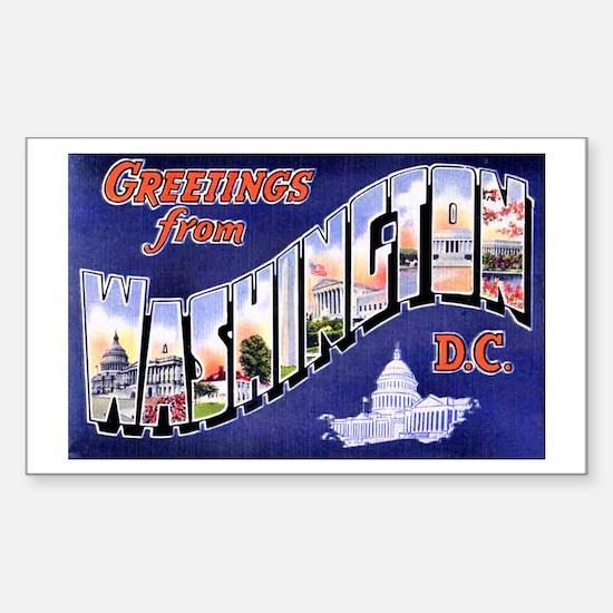Washington, D.C. Greetings Rectangle Decal