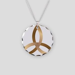 Holy Trinity Necklace Circle Charm