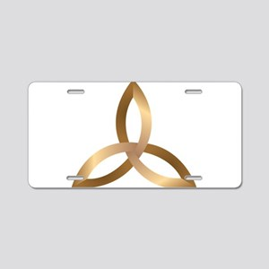 Holy Trinity Aluminum License Plate