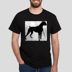Boxer Dog Ash Grey T-Shirt Dark T-Shirt