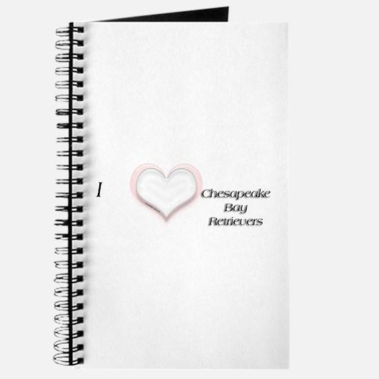 I heart Chesapeake Bay Retrievers Journal