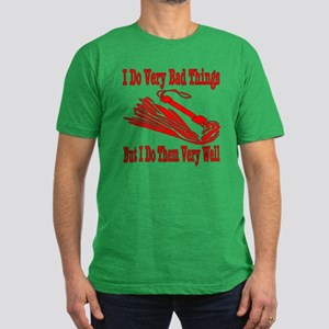 I Do Very Bad Things Men's Fitted T-Shirt (dark)