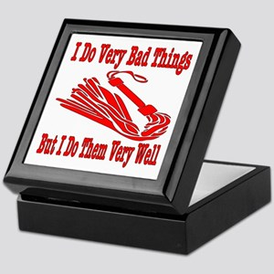 I Do Very Bad Things Keepsake Box