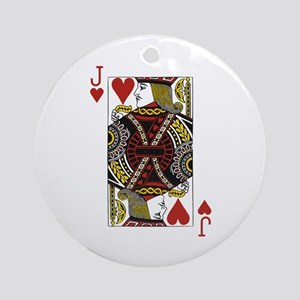 Jack of Hearts Ornament (Round)