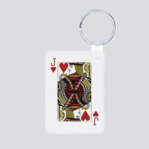 Jack of Hearts Aluminum Photo Keychain