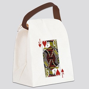 Jack of Hearts Canvas Lunch Bag