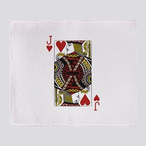 Jack of Hearts Throw Blanket