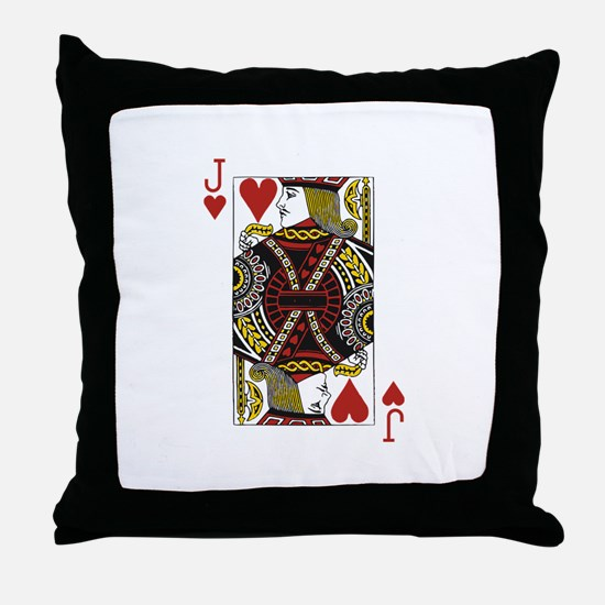 Jack of Hearts Throw Pillow