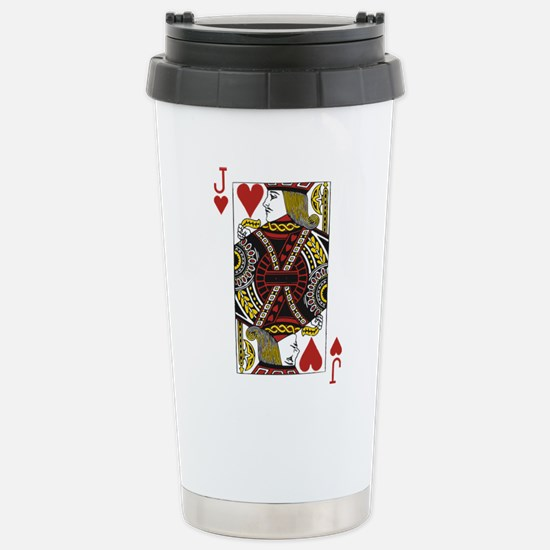 Jack of Hearts Stainless Steel Travel Mug