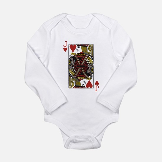 Jack of Hearts Long Sleeve Infant Bodysuit