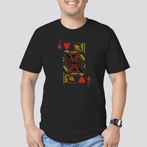 Jack of Hearts Men's Fitted T-Shirt (dark)