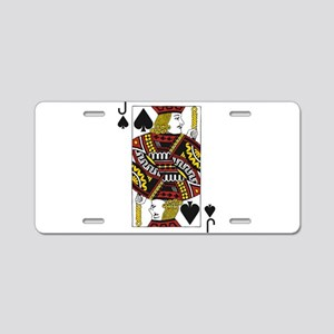 Jack of Spades Aluminum License Plate