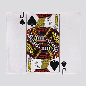 Jack of Spades Throw Blanket