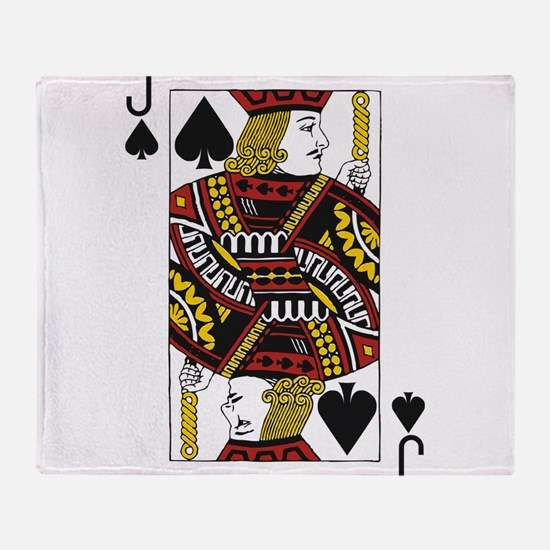 Jack of Spades Throw Blanket