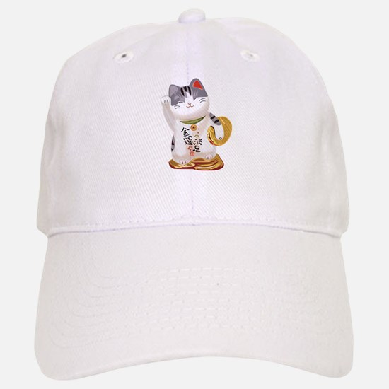 Lucky Cat Baseball Baseball Cap
