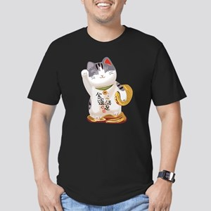 Lucky Cat Men's Fitted T-Shirt (dark)